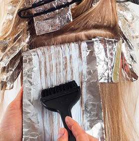 Haircoloring and foils